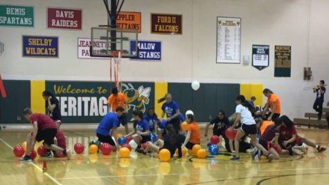 Students compete against each other in an intense game during last years Battle of the Brightest.