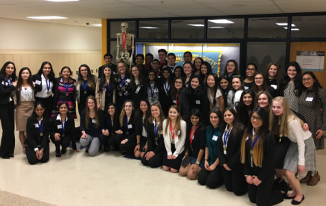Pictured here are UAIS HOSA competitors at Fraser High School on February 4th.