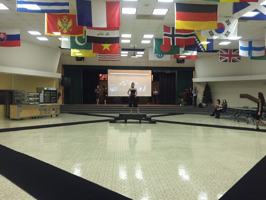 Dress rehearsal for the upcoming fashion show