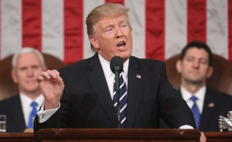 President Donald J. Trump addresses Congress in his 2018 State of the Union speech.