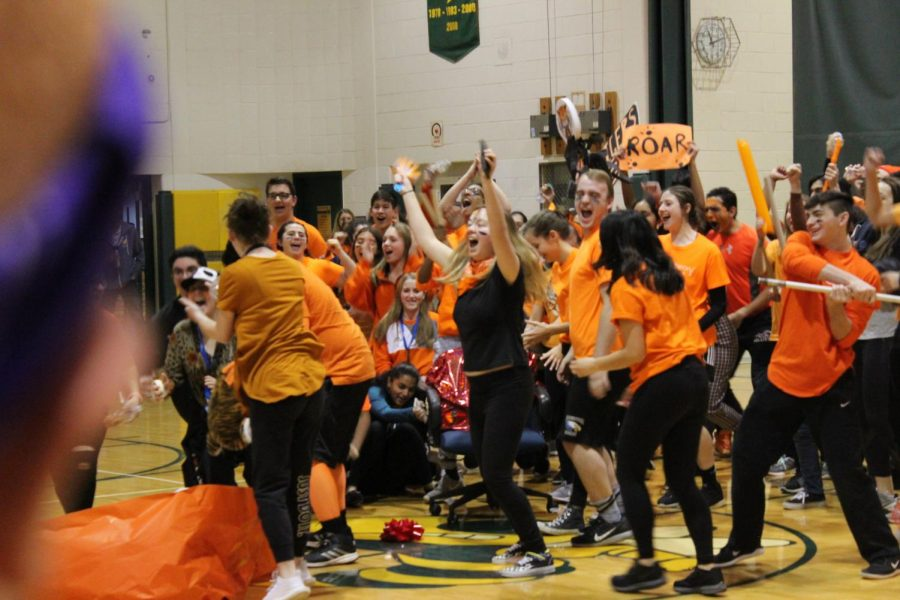 Tiger House's exciting enterance into the gym before the games begin.
