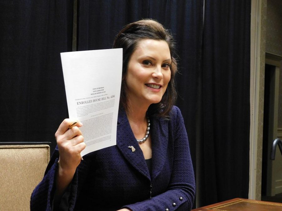 Michigan Governor Gretchen Whitmer signs into law Enrolled House Bill No. 4206.