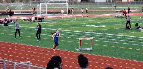 Anna Pontzious running track for Eisenhower
