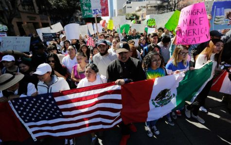 A pro-immigration protest
