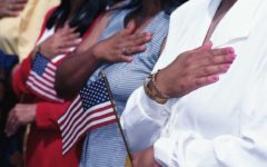 New Citizens Saying the Pledge of Allegiance